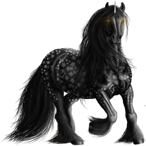 Unicorn pony Newfoundland Pony Dapple Gray