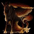 Winged riding unicorn Camargue Light Grey