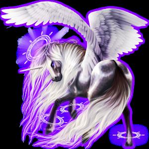 Winged riding unicorn Appaloosa Black Leopard
