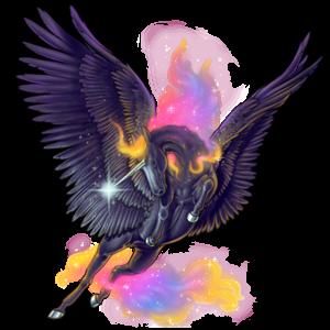 Winged riding unicorn Marwari Dun