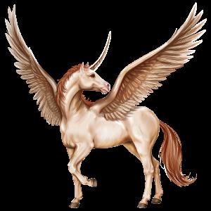 Winged riding unicorn Irish Hunter Dapple Gray