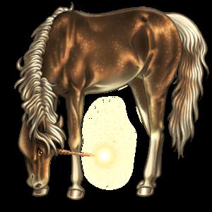 Licorne de selle Cheval Islandais Alezan Crins Lavés