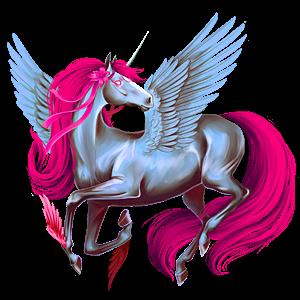Winged riding unicorn Thoroughbred Dapple Gray