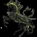 Licorne ailée Frison Noir