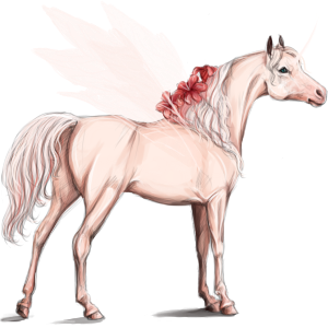 Winged riding unicorn Akhal-Teke Chestnut