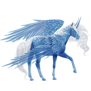 Winged riding unicorn Friesian Black
