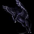 Winged unicorn pony  Welsh Dark Bay
