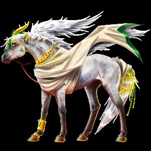 Pegasus-Reitpferd Hannoveraner Hellgrau