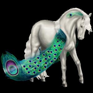 Pegasus-Reitpferd Knabstrupper Fuchsschecke