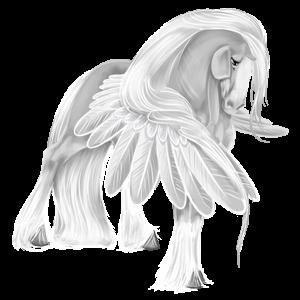 Pegaz wierzchowy Koń pełnej krwi angielskiej Siwa Jabłkowita