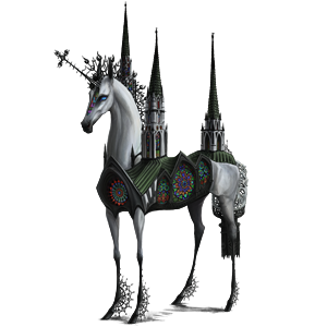 Riding unicorn Shagya Arabian Light Gray