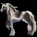 Riding unicorn Paint Horse Chestnut Tobiano