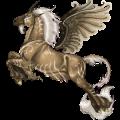 Winged riding unicorn Thoroughbred Dark Bay