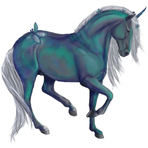 Unicorn pony Australian Pony Light Gray