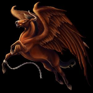 Winged riding unicorn Canadian Horse Bay