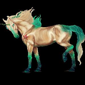 Riding unicorn Brumby Palomino