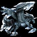 Licorne de selle ailée Camargue Gris Pommelé