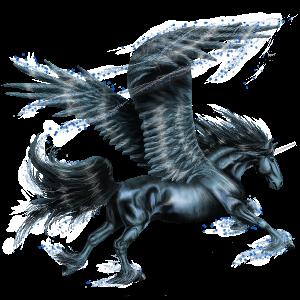 Winged riding unicorn Thoroughbred Dun