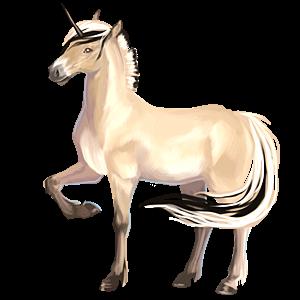 Unicorn pony Fjord Brunblakk
