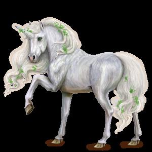 Winged riding unicorn Arabian Horse Light Gray