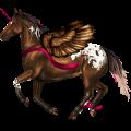 Winged Unicorn Appaloosa Dun Spotted Blanket
