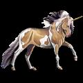 Riding unicorn Mustang Chestnut