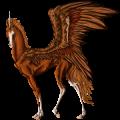 Winged riding unicorn Mustang Few Spots