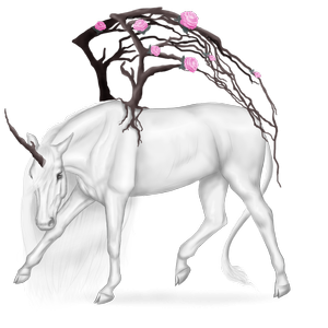 Winged unicorn pony  Shetland Black Tobiano