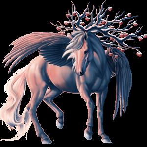 Winged riding unicorn Akhal-Teke Light Grey