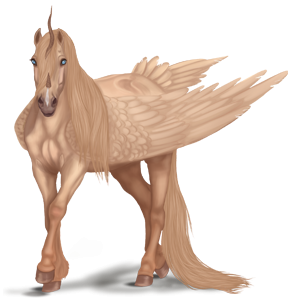 Winged riding unicorn Arabian Horse Dark Bay