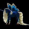 Skrzydlaty jednorożec wierzchowy Koń hanowerski Gniada