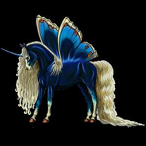 Winged riding unicorn Mustang Bay