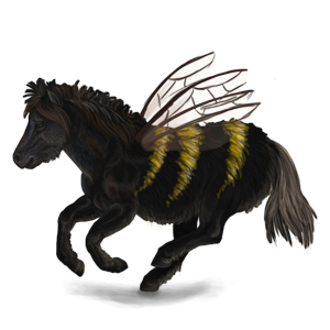 Pony-pegasus Shetlander Roodbruin