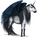 Winged Unicorn Arabian Horse Flaxen Chestnut