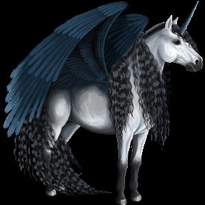 Unicornio de montar alado Pura raza española Isabelo