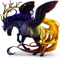 Winged riding unicorn Arabian Horse Mouse Gray