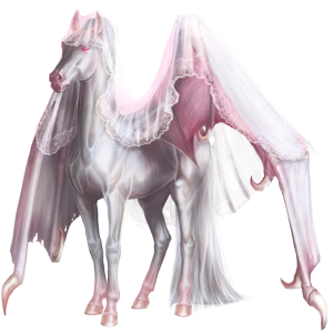 Riding pegasus Shagya Arabian Light Gray