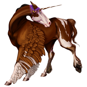 Winged riding unicorn Tennessee Walker Chestnut