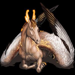 Riding pegasus Akhal-Teke Dapple Gray