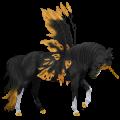 Winged unicorn pony  Fjord Ulsblakk