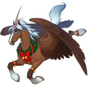 Winged unicorn pony  Quarter Pony Dark Bay