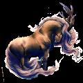 Riding unicorn Nokota Black Overo