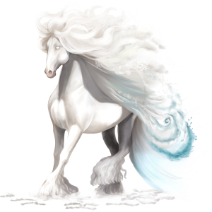 Riding Horse Akhal-Teke Light Gray