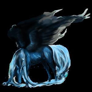 Licorne de selle ailée Mustang Palomino