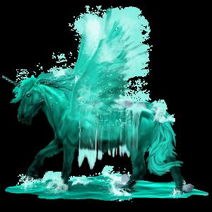 Winged unicorn pony  Highland Pony Mouse Gray