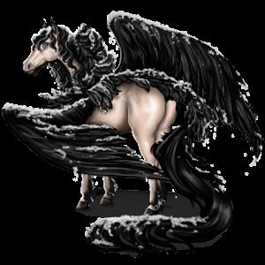 Pegaz wierzchowy Koń pełnej krwi angielskiej Brudnokasztanowata