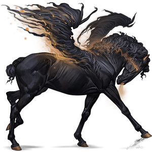 Riding pegasus Friesian Black