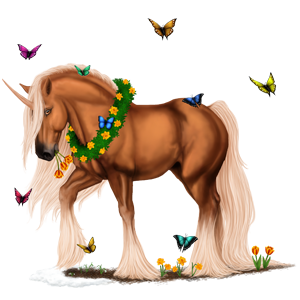 Einhorn-Pony Connemara-Pony Falbe