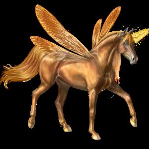 Winged riding unicorn Curly Bay