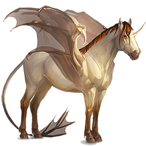 Winged riding unicorn Marwari Black